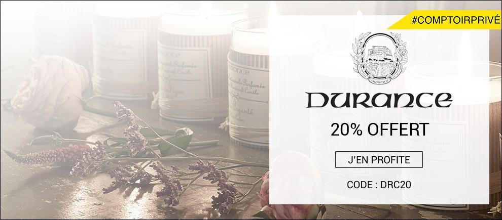 20% offert sur Durance