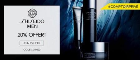 20% offert sur Shiseido Men