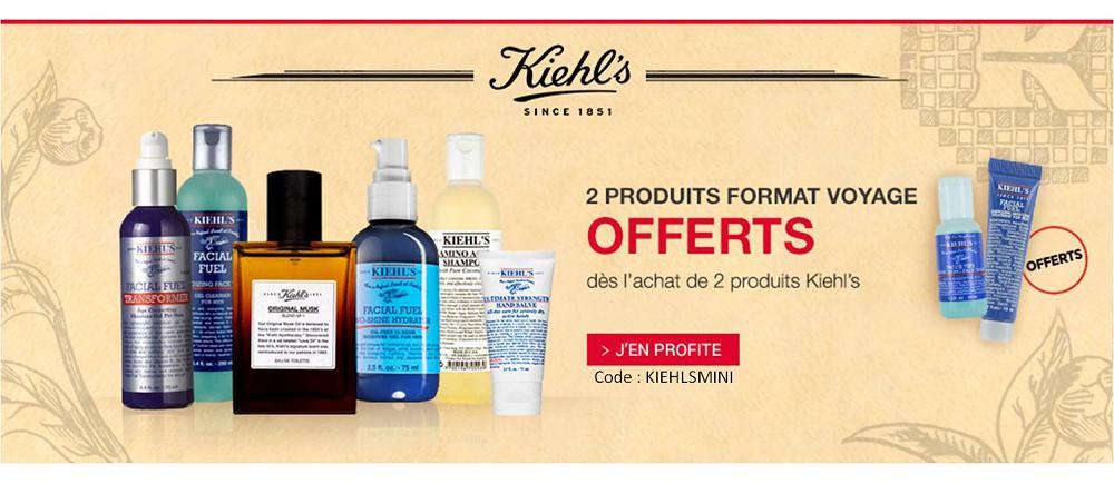 Kielhl's 2 mini produits offerts