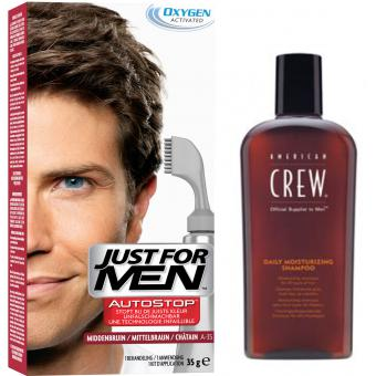 PACK AUTOSTOP & SHAMPOING Châtain - Coloration Cheveux Homme - Just For Men