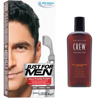 PACK AUTOSTOP & SHAMPOING Noir - Coloration Cheveux Homme - Just For Men