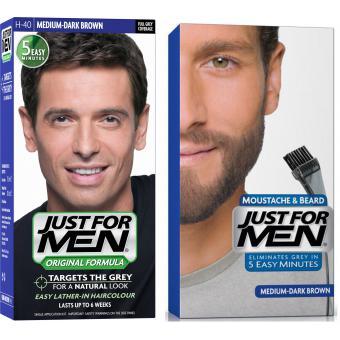 Coloration Barbe Châtain Moyen Foncé Couleur naturelle & Cheveux - Just For Men