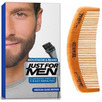 Coloration Barbe Châtain Moyen Foncé Couleur naturelle & Peigne - Just For Men