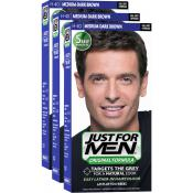 Just For Men Homme - PACK 3 COLORATIONS CHEVEUX HOMME CHATAIN MOYEN FONCE COULEUR NATURELLE -