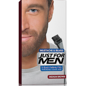 Just For Men Homme - Coloration Barbe Châtain Couleur Naturelle - Coloration Cheveux & Barbe