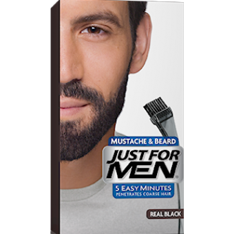 coloration barbe noir naturel couleur naturelle just for men - Coloration Barbe Homme