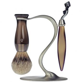 Set Rasage 3 Pieces Fumé Stand S Lames Mach 3® - E Shave
