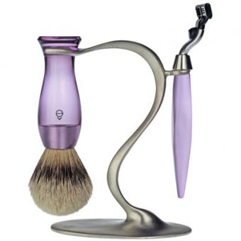 Set Rasage 3 Pieces Violet Stand S Lames Mach 3® - E Shave