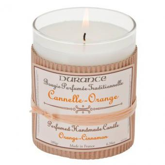 Durance - Bougie Traditionnelle DURANCE Parfum Cannelle Orange SWANN - Parfum Homme