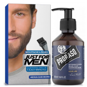 Just For Men - COLORATION BARBE Châtain Moyen Foncé & Shampoing à Barbe 200ml Azur Lime - Just for men