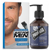 Just For Men Homme - COLORATION BARBE CHÂTAIN MOYEN CLAIR COULEUR NATURELLE & Shampoing à Barbe - Coloration Cheveux & Barbe