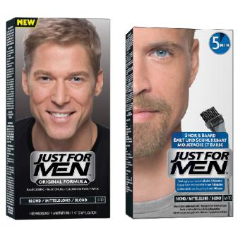 Just For Men - DUO COLORATION CHEVEUX & BARBE Blond - Coloration just for men