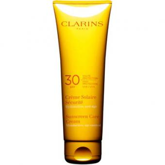 creme solaire securite spf 30 clarins solaires protection solaire homme. Black Bedroom Furniture Sets. Home Design Ideas