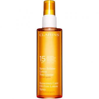 LOTION SPRAY SOLAIRE SPF 15 - Spéciale Sport - Clarins Solaires