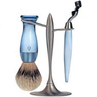 Set Rasage 3 Pieces Bleu Stand T Lames Mach 3® - E Shave