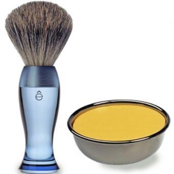Pack Rasage Blaireau Bleu & Savon À Raser - E Shave