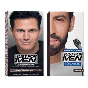 Just For Men - DUO COLORATION CHEVEUX & BARBE Noir Naturel - Coloration just for men
