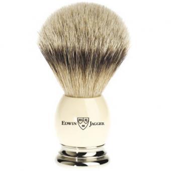 Blaireau ivoire en véritables poils de blaireau - Edwin Jagger