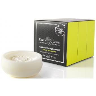 Pack de 3 recharges savon de rasage grenade et citron vert - Edwin Jagger