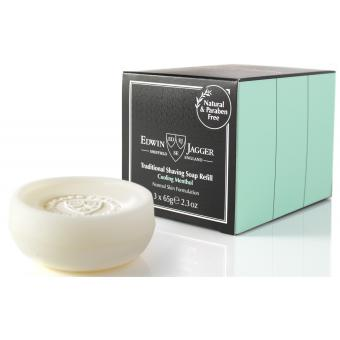 Pack de 3 recharges savon de rasage menthol - Edwin Jagger