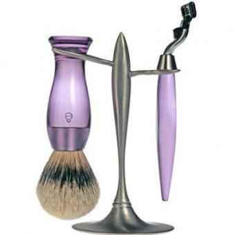 Set Rasage 3 Pieces Violet Stand T Lames Mach 3® - E Shave