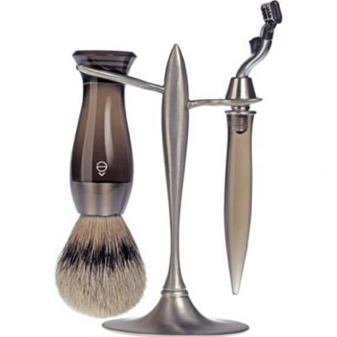 set rasage 3 pieces fum stand t e shave rasoir. Black Bedroom Furniture Sets. Home Design Ideas