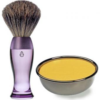 Pack Rasage Blaireau Violet & Savon À Raser - E Shave