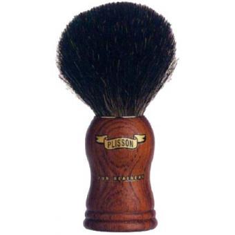 Blaireau pur noir en bubinga 12cm - Plisson