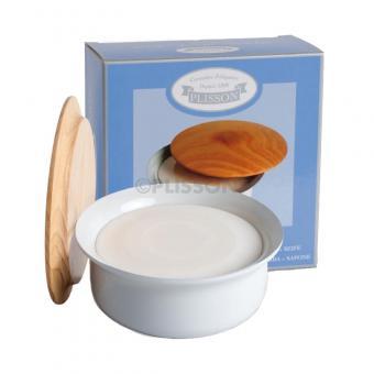 Bol à raser en porcelaine avec savon et couvercle - Plisson