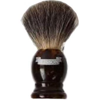 Blaireau écaille en véritables poils gris de blaireau 10cm - Plisson