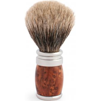 Blaireau à poils gris de Chine en palladium et bois de Thuya - Plisson