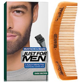 Just For Men - PACK COLORATION BARBE ET PEIGNE BARBIER Châtain Foncé - Coloration just for men