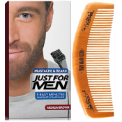 Just For Men - PACK COLORATION BARBE ET PEIGNE BARBIER Châtain - Just for men