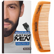 Just For Men - PACK COLORATION BARBE ET PEIGNE BARBIER Noir Naturel - Just for men
