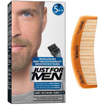 Just For Men - PACK COLORATION BARBE ET PEIGNE DE BARBIER Blond - Coloration just for men