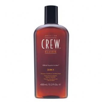 American Crew - 3-in-1 Shampooing, Soin et Gel Douche - Shampoing homme