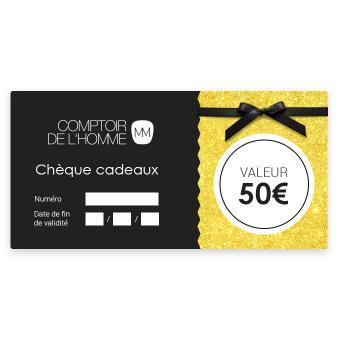 Chèque Cadeau 50€ - Comptoir de l'Homme