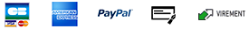 paiements securise CB Amex Paypal Cheque Virement Oney