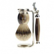 Edwin Jagger Homme - Set de rasage Type Corne - Rasoir & blaireau