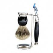 Edwin Jagger Homme - Set de rasage Noir Fusion® - Rasoir & blaireau