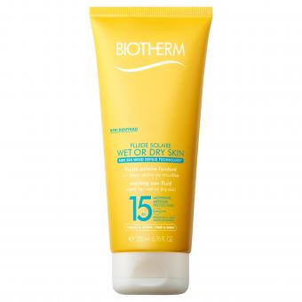 Biotherm Solaires - Fluide Solaire Wet Or Dry Skin SPF15 - Creme solaire biotherm