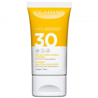 Clarins Solaires - GEL-EN-HUILE SOLAIRE INVISIBLE SPF30 VISAGE - Protection solaire
