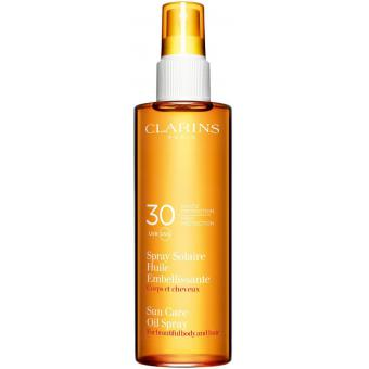 SPRAY SOLAIRE HUILE EMBELLISSANTE CORPS & CHEVEUX SPF30 - Clarins Solaires