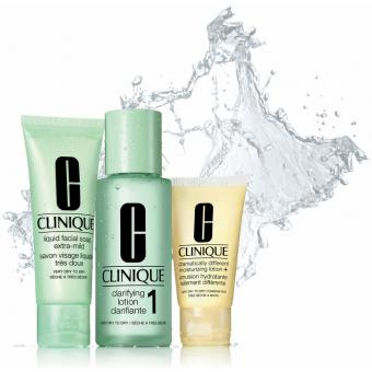 Clinique - KIT D'INITIATION TYPE DE PEAU 1 PEAU TRES SECHE A SECHE - Clinique cosmetiques