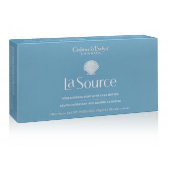 Boîte de 3 Savons au Beurre de Karité La Source 3 x 100 g - Crabtree & Evelyn