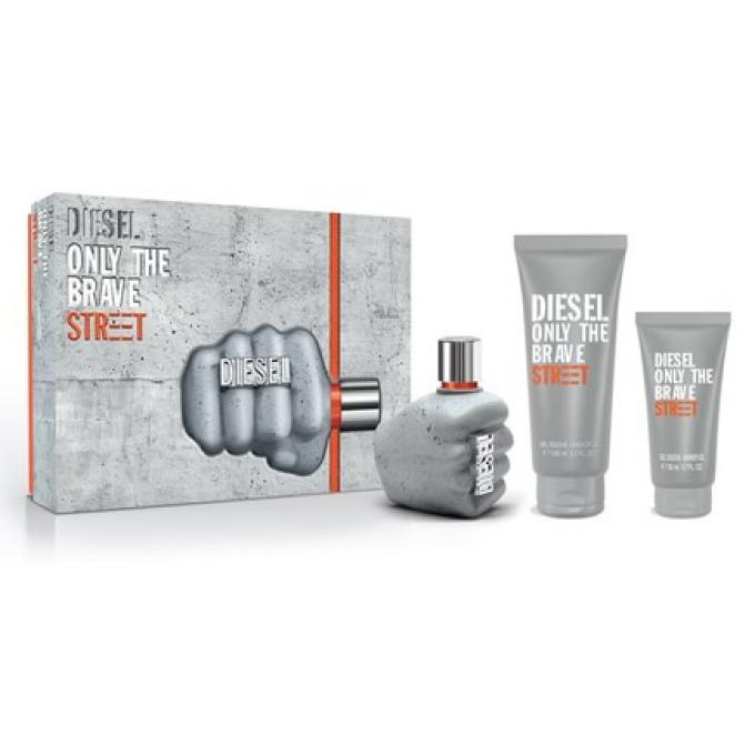 Coffret diesel only the brave street vaporisateur 75ml gel douche 100ml gel douche 50ml - Coffret gel douche homme ...