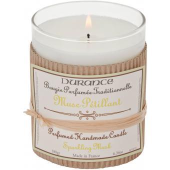 Bougie Parfumée Traditionnelle 180g Musc Pétillant - Durance