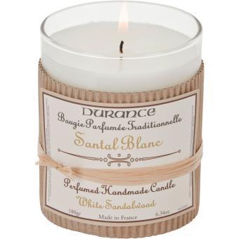 Bougie Parfumée Traditionnelle 180g Santal blanc - Durance