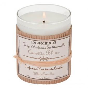 Bougie parfumée traditionnelle Camélia Blanc - Durance