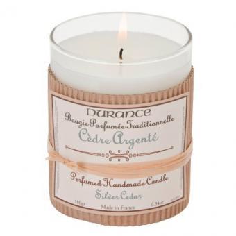 Bougie parfumée traditionnelle Cèdre Argenté - Durance
